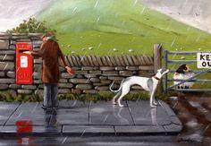 "Original painting by Steve Sanderson,""The very nosey sheep.."" Northern Art in Art, Artists (Self-Representing), Paintings | eBay"