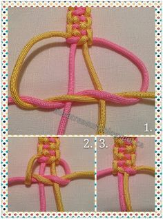 Indian Trail Paracord Bracelet Tutorial- Tap the link now to see our super collection of accessories made just for you!How to make Paracord Bracelet Rainbow is going to make paracord bracelet to her friend.Two color double square Beautiful Bracelet Bracelet Knots, Bracelet Crafts, Paracord Bracelets, Paracord Keychain, Knotted Bracelet, Survival Bracelets, Macrame Jewelry, Macrame Bracelets, Gold Bracelets