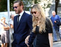 1 August 2016 - Beatrice and Pierre attend the funeral of Marta Marzotto, Beatrice's grandmother