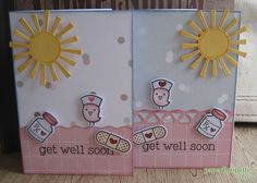 Paperlipopette's get well soon Card, create with Lawn Fawn get well soon stamps, Carpe diem paper collection (Glitz)
