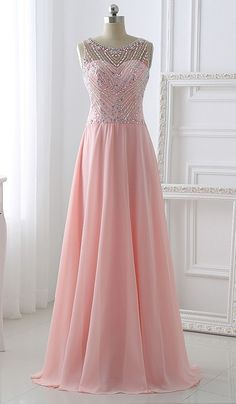 Pretty Long Prom Dresses,Pink Chiffon Beading Prom Dresses,Simple A-line Prom Dresses,Evening Dresses,Prom Dress 2016 http://www.luulla.com/product/578554/handmade-long-chiffon-prom-dresses-pretty-pink-beading-prom-dress-a-line-evening-dresses