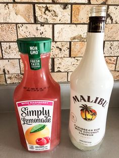 Jump to Recipe·Print Recipe Raspberry Lemonade Cocktail is a light and refreshing summer cocktail to sip while running the grill or while you're out by. Easy Mixed Drinks, Mixed Drinks Alcohol, Alcohol Drink Recipes, Mixed Drinks With Malibu, Mix Drink Recipes, Easy Rum Drinks, Fruity Mixed Drinks, Alcoholic Punch Recipes, Summer Drinks