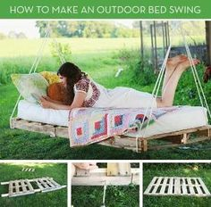 How to make an outdoor bed swing with paletts by roberta