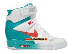 Nike Air Revolution Sky Hi GS - Chaussure Montante Nike Pas Cher Pour Femme Blanc/Gris loup/Morelle noire/Cramoisi laser 599410-101