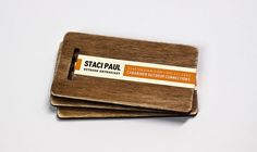 Wooden business cards/luggage tags