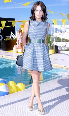 Belle's figure-enhancing idea to belt a cocktail dress is one to steal. // #Fashion