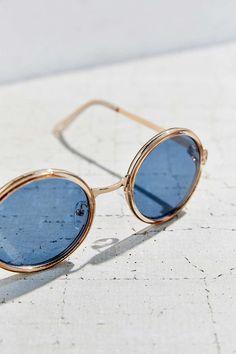 Both Worlds Round Sunglasses, $18
