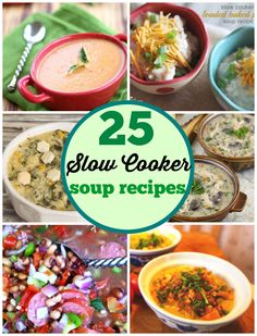 25 Slow Cooker Soups - easy soup recipes fro your crockpot to keep you warm all winter | pinkwhen.com