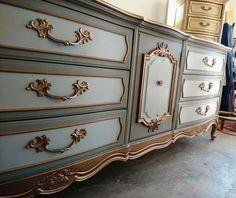 SOLD!! Queen Anne Style Dresser by GildedLilyArtistry on Etsy