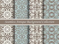 Antique Pattern Seamless Vintage Digital Paper by FuntreeDesign
