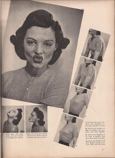 vintage face exercises >> Old school facial exercise!!