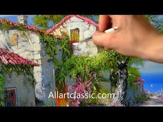 Beautiful Mediterranean View Painting - YouTube