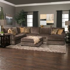 When it's time to unwind the Teddy 3 piece sectional will be your go-to spot for serious coziness. The back cushions are fiber filled for softness and double welted to hold their shape. The seat cushions are feather and down blend wrapped around baffled 2lb density foam core for extreme comfort a...
