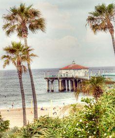 Photograph - Manhattan Beach Pier by Juli Scalzi , Manhattan Beach California, California Dreamin', Dream Beach Houses, Hermosa Beach, Beach Town, Palm Beach, Cool Pictures, Places To Go, Surfing