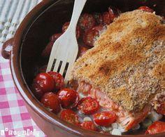 Salmón con mostaza y tomatitos | L'Exquisit