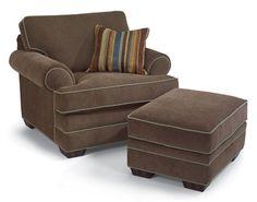 """Lehigh  Chair & Ottoman    Model 7354-10-08  35""""H x 46""""W x 38""""D"""