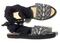 Black And White Espadrilles, Bow Slides, Gift Of Time, New Earth, Made Clothing, Together We Can, Sustainable Design, Summer Shoes, Summer Collection