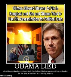 OBAMA CARTOONS: Conservative Political Humor: Hillary Clinton and Barack Obama: Hiding the truth about Benghazi!