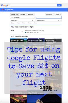 I Love Google Flights and You Should Too - Tips on how to save money on your next vacation!