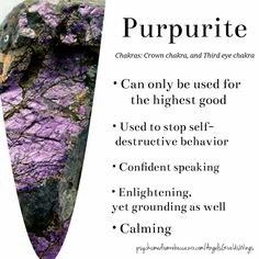 Purpurite crystal meaning