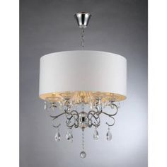 Warehouse of Tiffany Camilla 6-Light Chrome Crystal Chandelier-RL9270 - The Home Depot