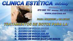 BOTOX EN MARBELLA PARA EL TRATAMIENTO DE EXCESO DE SUDOR   BOTOX EN MARBELLA PARA EL TRATAMIENTO DE SUDORACIÓN EXCESIVA AXILAS  http://www.marbea.es/
