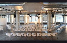 Folium - Eventlocation in Zürich #Loft Loft, Chandelier, Ceiling Lights, Table Decorations, Lighting, Furniture, Home Decor, Paper Mill, Candelabra