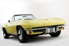 Exceptional classic cars info is offered on our website. Check it out and you wont be sorry you did. Chevrolet Corvette Stingray, Chevrolet Camaro 1969, Chevy Classic, Classic Cars, Yellow Corvette, Convertible, Yellow Car, Vintage Race Car, Unique Cars