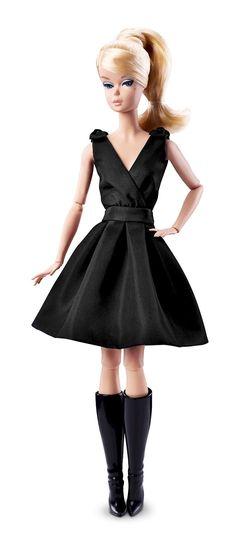 Details zu Beautiful Silkstone Classic Black Dress Barbie NRFB Fashion Model…