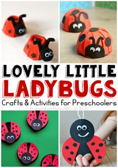 Lovely Ladybug Crafts for Preschoolers via @abcstoacts