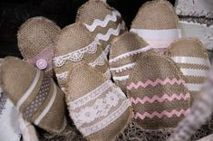 Burlap & Lace Easter Eggs-Set of 3 Easter Egg Crafts, Easter Treats, Easter Eggs, Easter Decor, Easter Traditions, Burlap Lace, Burlap Crafts, Hoppy Easter, Easter Party