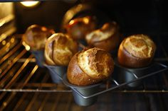 The author became obsessed with discovering what makes popovers airy and crispy so she mixed and matched different flours and milk with eggs to find out. Photo: Craig Lee, Special To The Chronicle Popover Pan, Popover Recipe, Mixer Test, High Protein Flour, Lactose Free Milk, Flavored Butter, Herb Butter, Recipe Instructions, Losing Weight