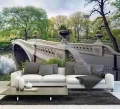 Tapet - Central Park 395 x 270 cm Outdoor Sectional, Sectional Sofa, Central Park, Outdoor Furniture, Outdoor Decor, Wallpaper, Istanbul, Home Decor, Deco