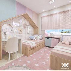 abreu… Source by dracarolineluz Kids Bedroom Designs, Kids Room Design, Baby Room Decor, Bedroom Decor, Little Girl Rooms, Awesome Bedrooms, Dream Rooms, Girls Bedroom, Room Inspiration