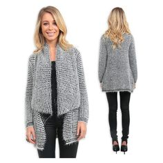 One of the warmest and softest cardi's we have! The 'Oxford Super Soft Cardi in Black and White' is an essential for this Winter! Available in 3 other gorgeous colours! Shop it for $69.90 at shop.stfrock.com.au #stfrock #cardi #knitwear