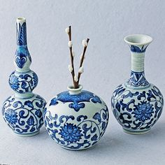 Handmade Blue and White Porcelain Vases