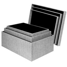 Black And White Decorative Boxes Lidded Storage Milk Crate  Gray  Room Essentials™  Cube Storage