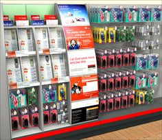 Virtual Visual Merchandising Display of Cell Phones for J Sainsbury