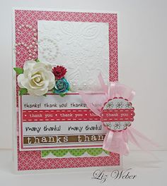SRM Stickers - SRM Stickers - @Liz Weber created this gorgeous card for World Card Making Day using SRM's Thank You Borders. YUM!