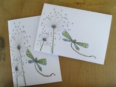 Set of Two Hand Made Dragonfly Dandelion by DreanasDragonflyPie