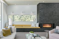 Gallery of Valentine House / Eric Meglasson Architect & Lightfoot A+D - 22 Modern Fireplace, Fireplace Design, Cozy House, Living Area, Building A House, Dining Table, Contemporary, Gallery, Furniture