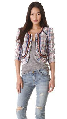 @Rebecca Minkoff  Jolie Acid Tweed Jacket