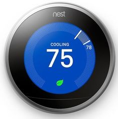 Nest Learning Thermostat Generation WiFi Stainless Steel New Nest Smart Thermostat, Best Wifi, Cool Tech Gifts, Electronic Shop, Electronic Devices, Works With Alexa, Pli, Saving Money, Gadgets