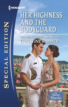Her Highness and the Bodyguard (The Bravo Royales) by Christine Rimmer,  MARRY FOR LOVE  Marcus is the best man Rhia's ever known, and she's never gotten over their breakup. Now, he's practically strapped to her side. It's like a dream come true…or a nightmare. Because Marcus is as stubborn as ever: she's a Bravo-Calabretti, he's a lowly security guard, and they can never be equals. Ever. (Read 2014-Current)