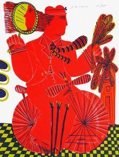 Limited Edition: CycIIste Au Miroir by Alexandre Fassianos : Composition Drawing, Sleeping Man, Greek Art, Couple Drawings, Find Art, Framed Artwork, Screen Printing, Art Gallery, Art Prints