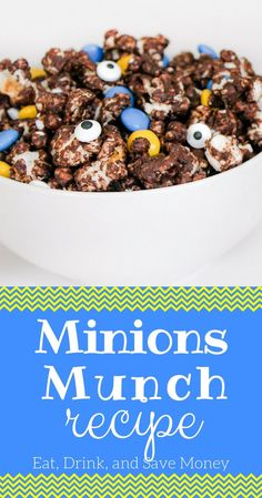 Do you love Despicable Me and Minions? Make this super easy Minions Munch recipe and bring some flair to your Minions party Minion Party Food, Despicable Me Party, Snack Recipes, Dessert Recipes, Party Recipes, Yummy Recipes, Popcorn Recipes, Food Themes, Quick Easy Meals