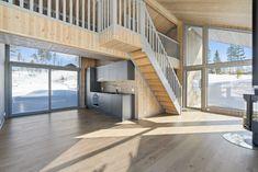 Turufjell i hjertet av Hallingdal- Arkitekttegnet hytte mot friareal. Carport - Store vindusflater og gode løsninger.   FINN.no Stairs, Design, Home Decor, Modern, Stairway, Decoration Home, Room Decor, Staircases