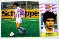 Cromo de Fútbol Real Valladolid Onesimo Temporada 86-87 Ediciones Este en todocoleccion.
