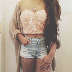 shirt clothes 3dflower top 3d rose crop tops girls pink, blue, print, flowers, crop top, crop, tops, weheartit jacket shorts sweater