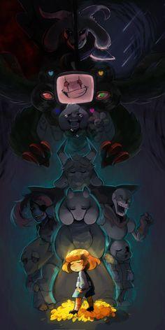 Angel of Death / God of Hyperdeath / Omega! Toriel Undertale, Undertale Fanart, Chara, Undertale Background, Flowey The Flower, Death God, Toby Fox, Undertale Drawings, Memes